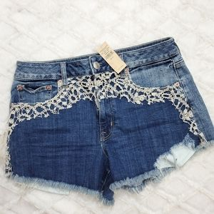 American Eagle Outfitters high rise Festival short